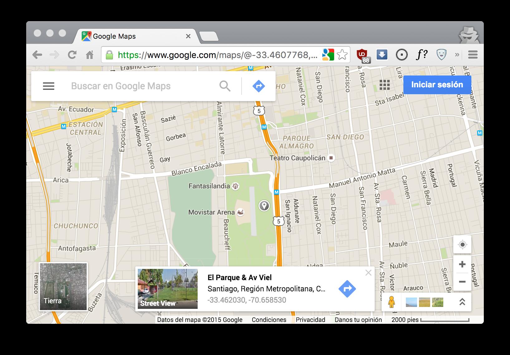 Get GoogleMaps com coordinates to clipboard on click · Patricio López J